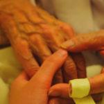 Elderly hands, nursing home