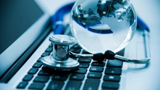 healthcare, medicine, globe, keyboard, world, stethoscope