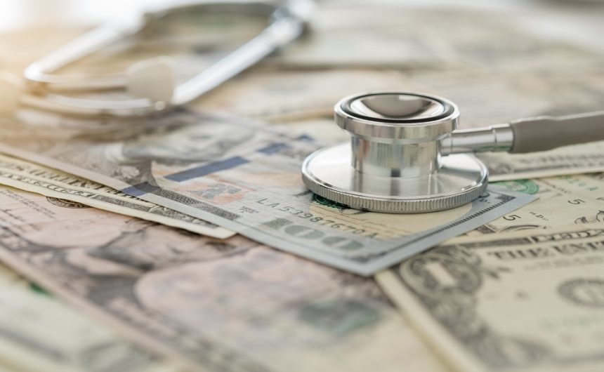 Health care, money, stethoscope
