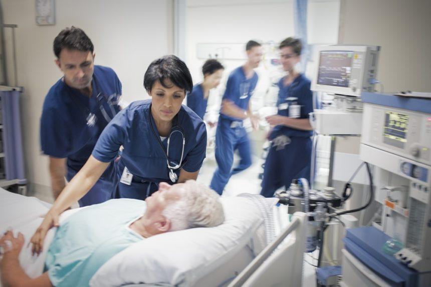 Elderly patient in the ICU