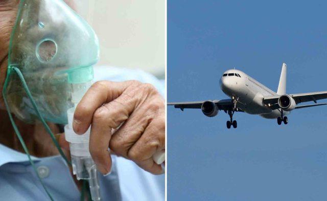 Oxygen Mask Airplane Flight COPD