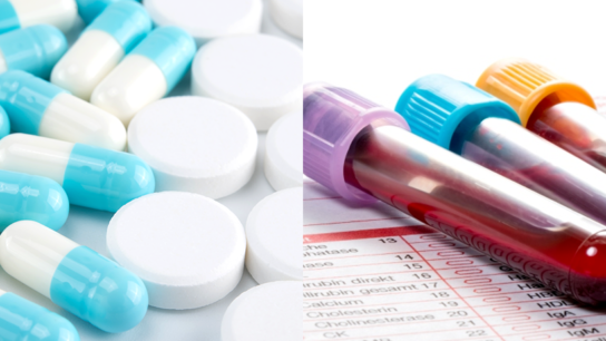 Pill steroids and glucose blood test