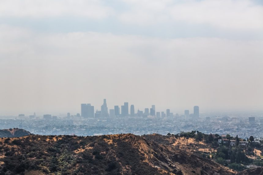 Smog over the city