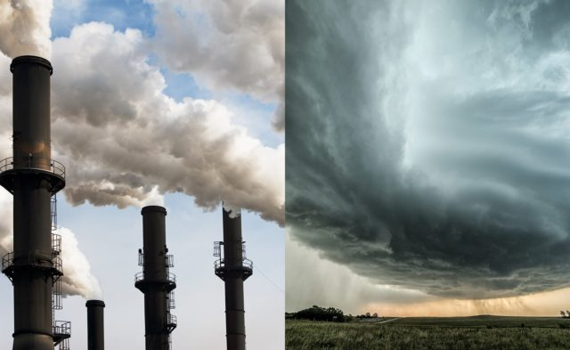 Factory air pollution and storm