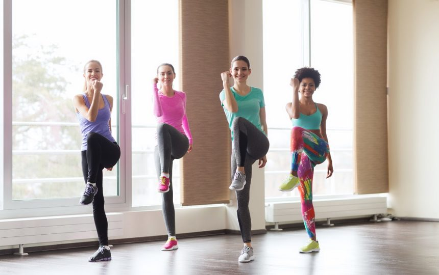Women working out, exercising