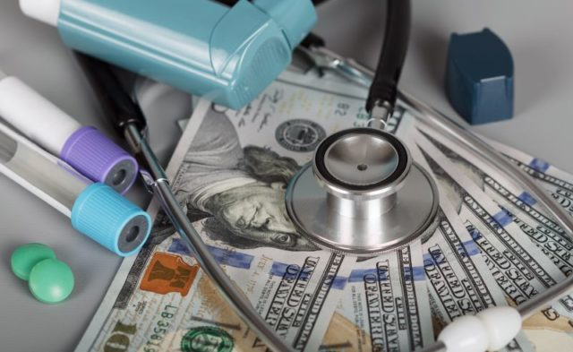 A stethoscope on American currency.