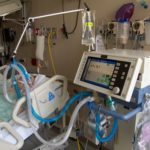 patient on ventilator in intensive care unit