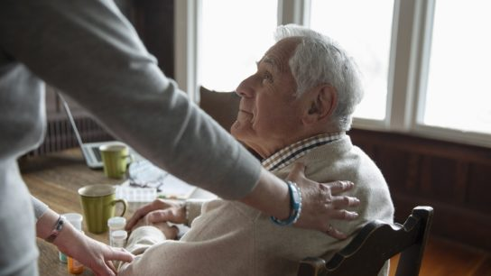 home caregiver and elderly patient