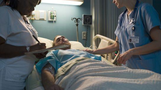 hospital patient man nurses