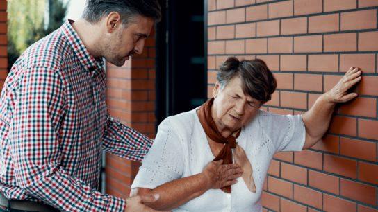 elderly female with shortness of breath