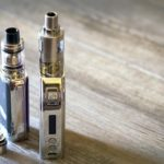 Two e-cigarettes with atomizer