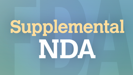 FDA supplemental NDA new drug application