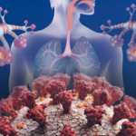 asthma illustration COVID-19 particles